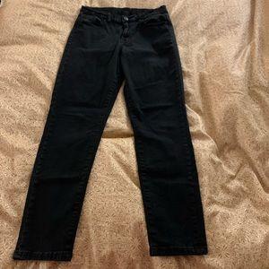 Black, skinny high waisted jeans